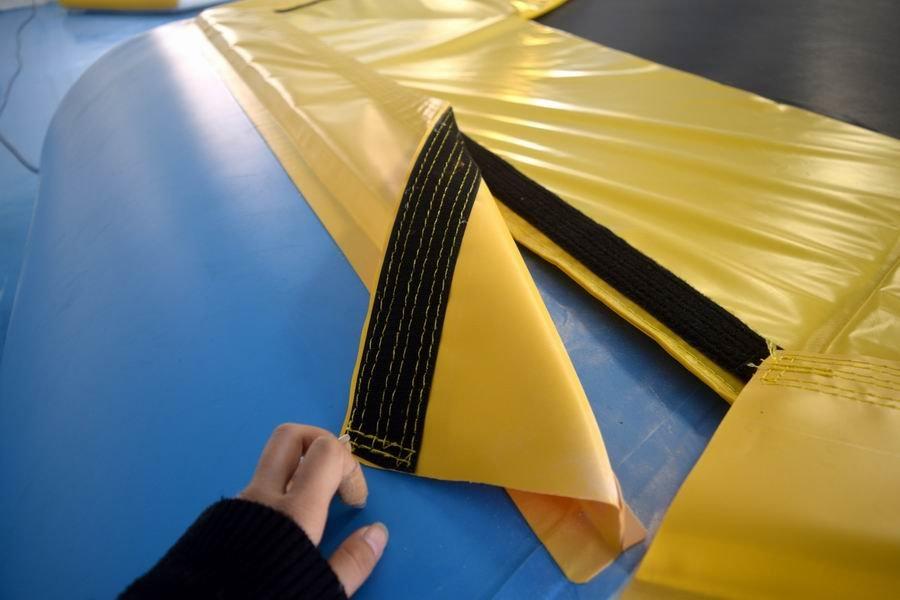 double ramp platform inflatable factory Bouncia manufacture