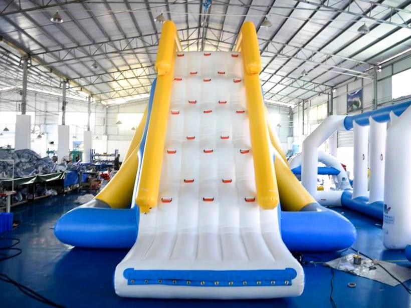 inflatable floating slide