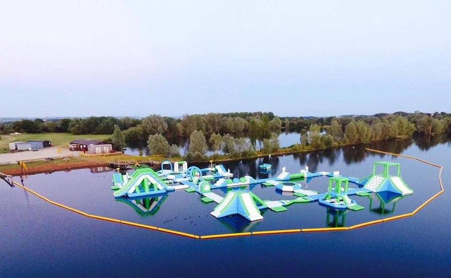 UK Oxford Inflatable Aqua Fun Park made by Bouncia