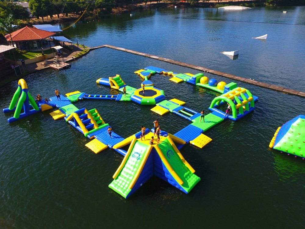 Inflatable Floating Water Park Games For Adults With TUV Certificate