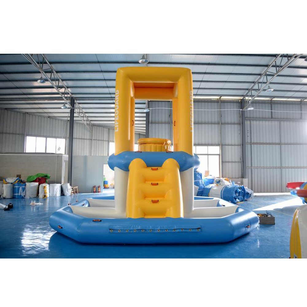 Bouncia  0.9mm PVC Tarpaulin Guard Tower For Sea Single Inflatable Water Games image15