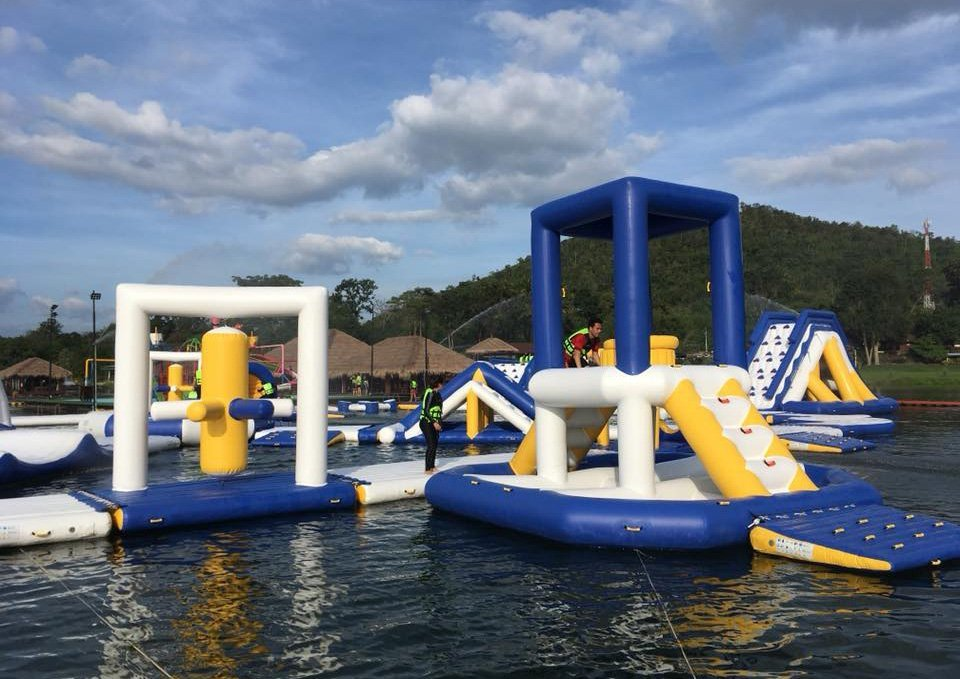 Wholesale bounica blow up water park Bouncia Brand