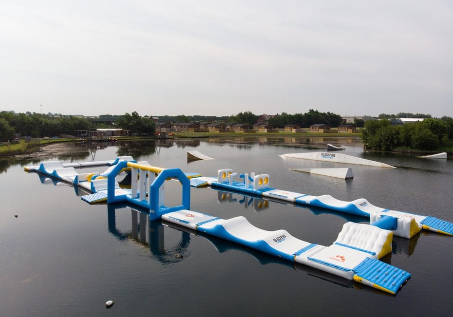 Bouncia New Inflatable Water Obstacle Course For Wake Park