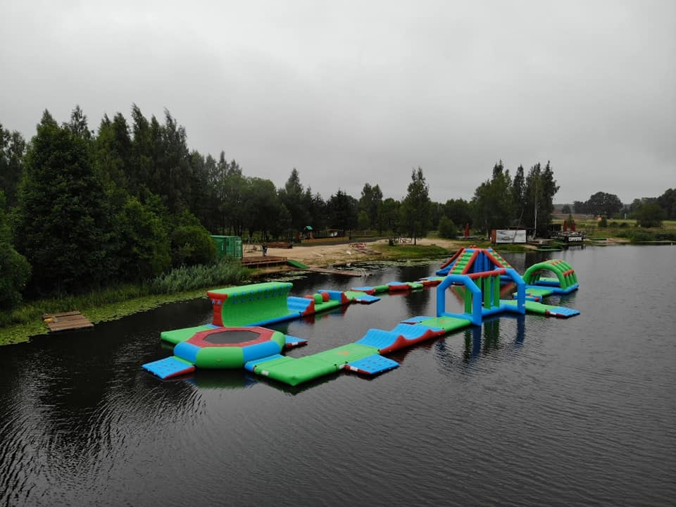 2018 New Floating Inflatable Water Park For Lake / Aqua Inflatable Water Games Manufacturer