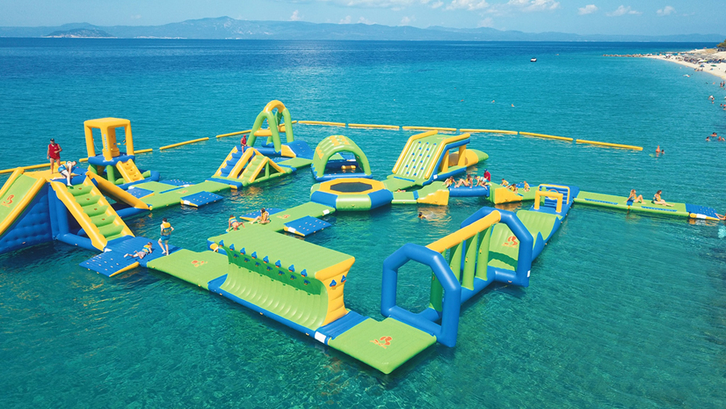 Greece Outdoor Inflatable Floating Water Park
