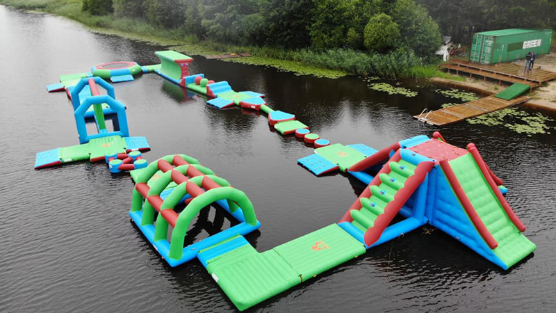 Floating Inflatable Water Park In Latvia
