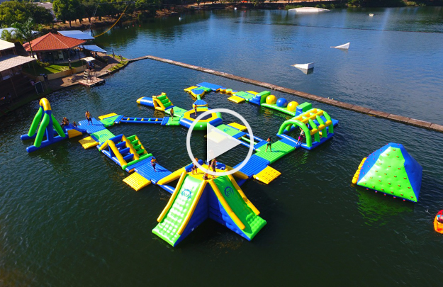 Brazil inflatable water park