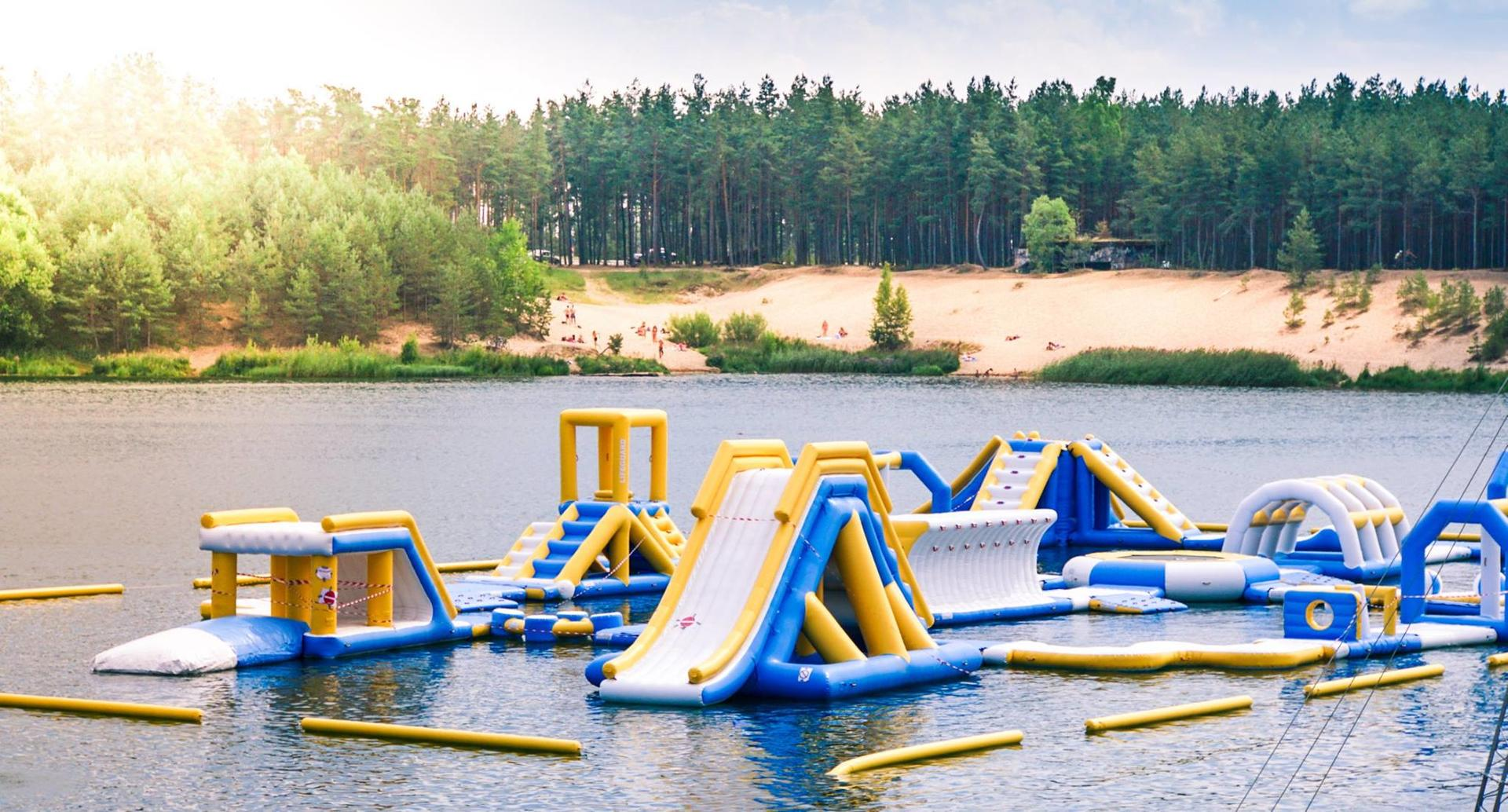 Bouncia New Inflatable Floating Water Park For Wake Park