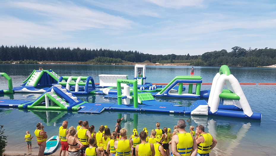 100 People Inflatable Aquapark Water Park For Lake