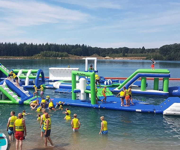 Bouncia -High-quality 100 People Inflatable Aquapark Water Park For Lake | Netherland-20