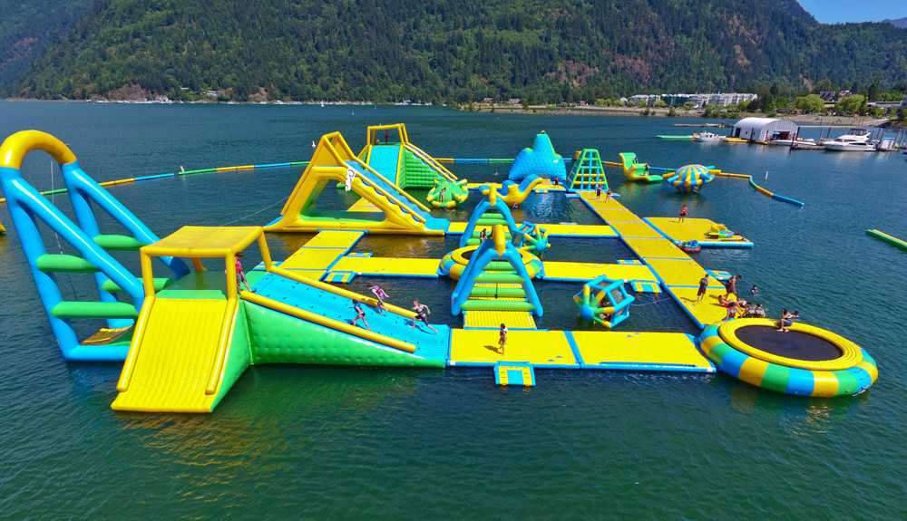inflatable water park for lake