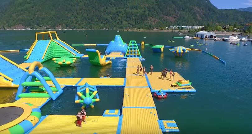 big inflatable water park