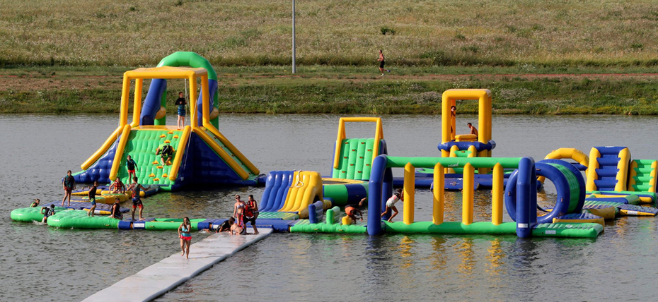Awesome Inflatable Water Park Games in Hungary