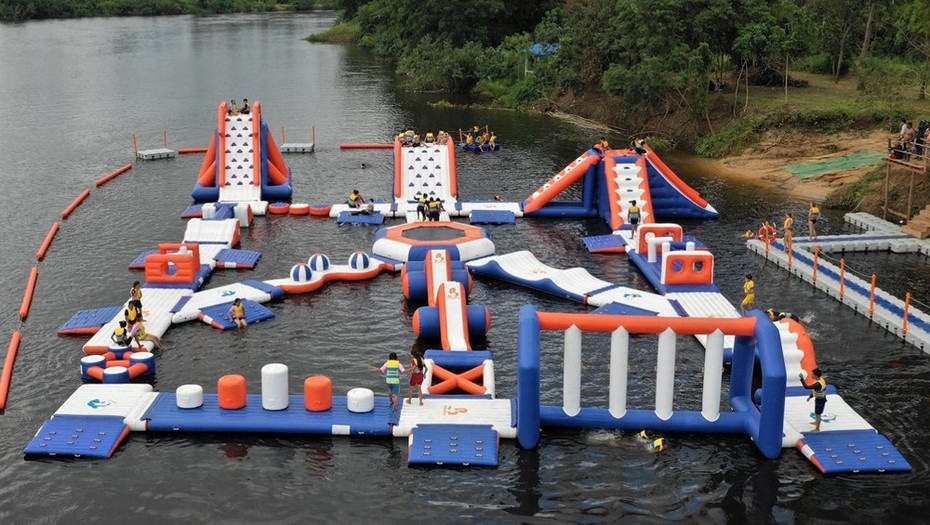 Bouncia New Inflatable Aqua Park In Cambodia