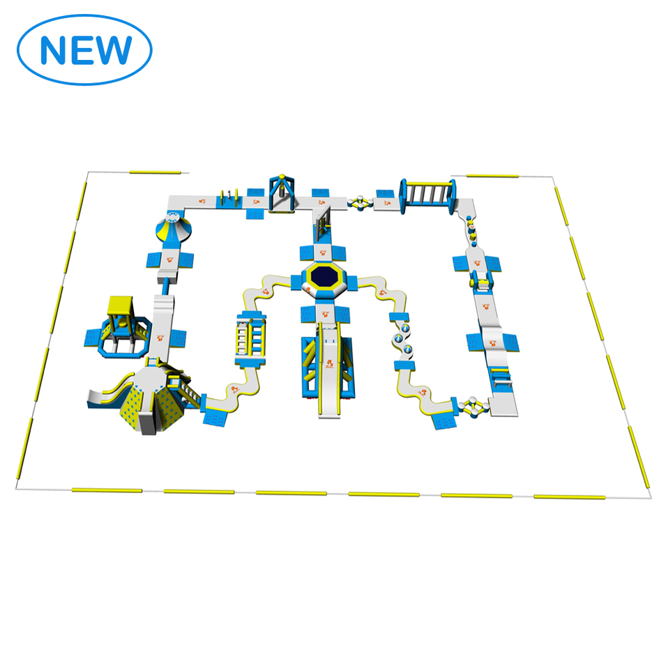 Bouncia New Design Floating Inflatable Water Park Games For Kids and Adults