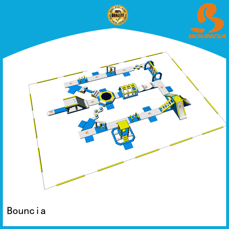 Bouncia Brand stock water floating equipment inflatable water park in stock