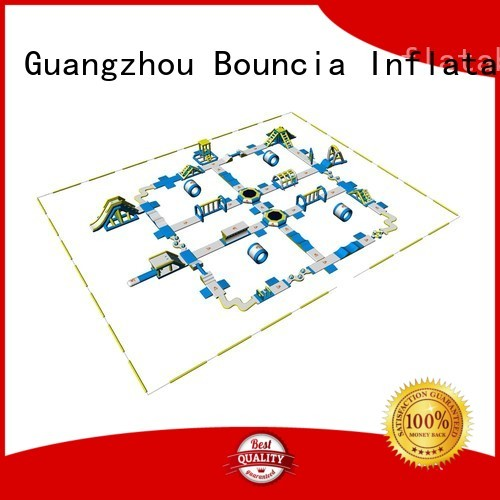 playground trampoline certiifcate inflatable water park for adults Bouncia manufacture