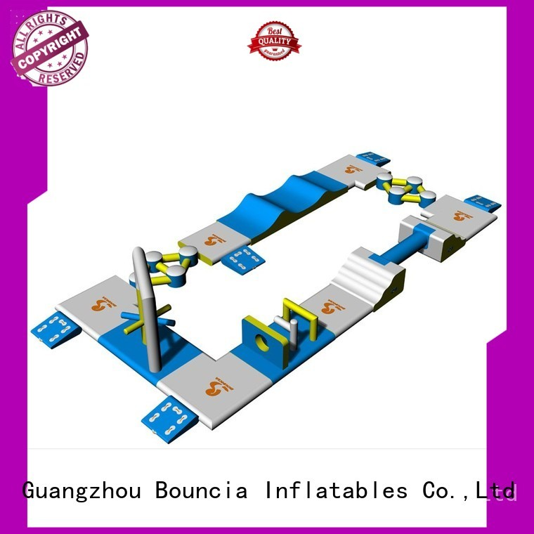 Hot small inflatable water park certification Bouncia Brand