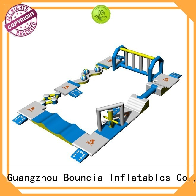by wall aqua inflatable floating water park Bouncia