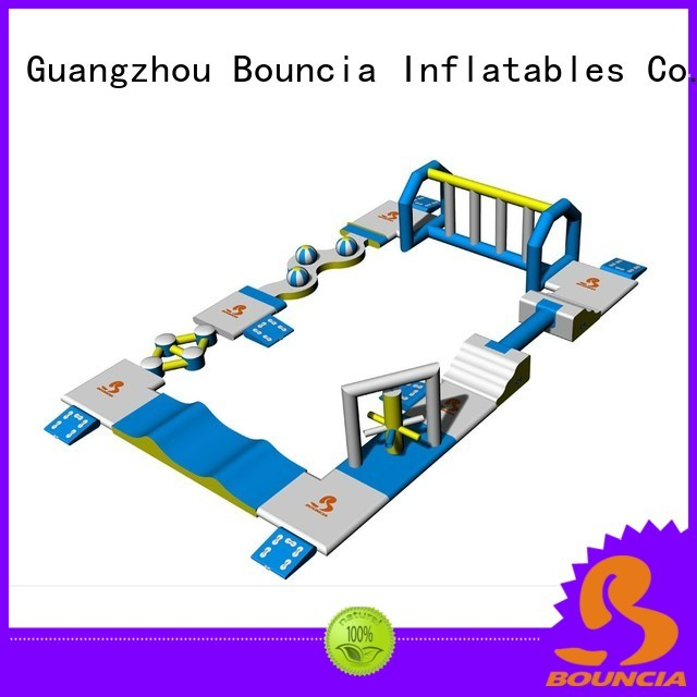 bouncia obstacle jumping small inflatable water park Bouncia manufacture