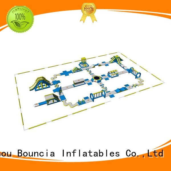 Hot swimming blow up water park course big Bouncia Brand