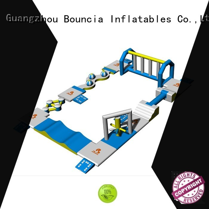 Wholesale obstacle small inflatable water park business Bouncia Brand