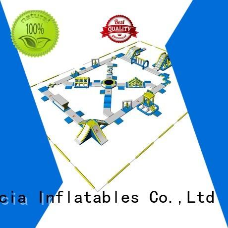 tarpaulin inflatable float trampoline Bouncia company