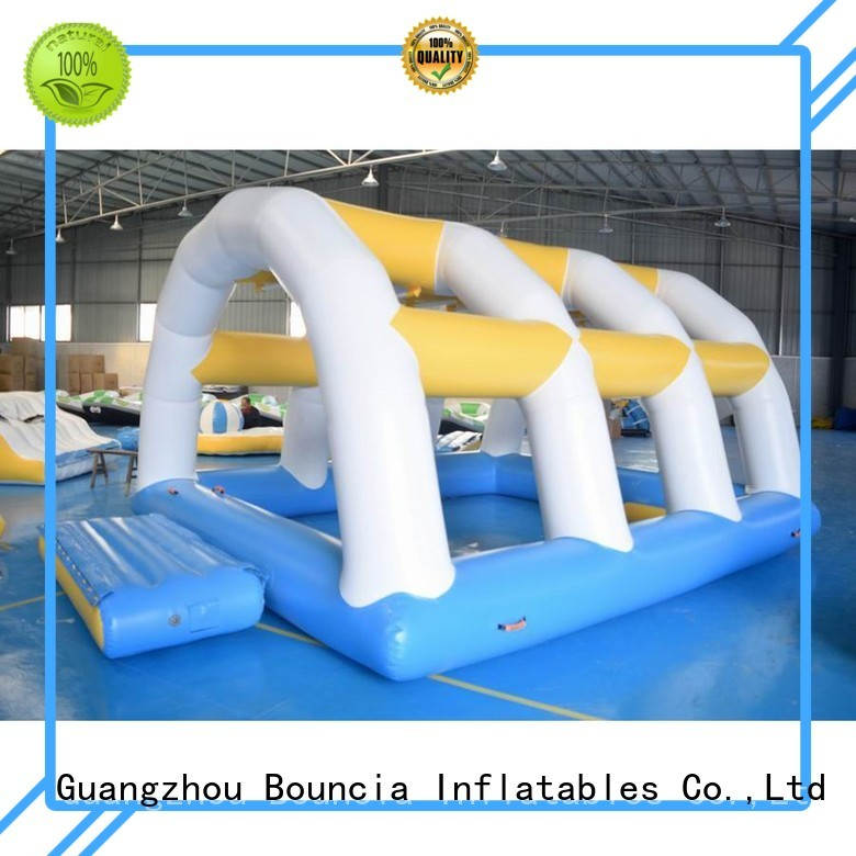 Bouncia Brand caps rental inflatable water games manufacture