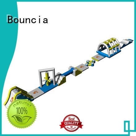 Bouncia Brand obstacle games inflatable floating water park water factory