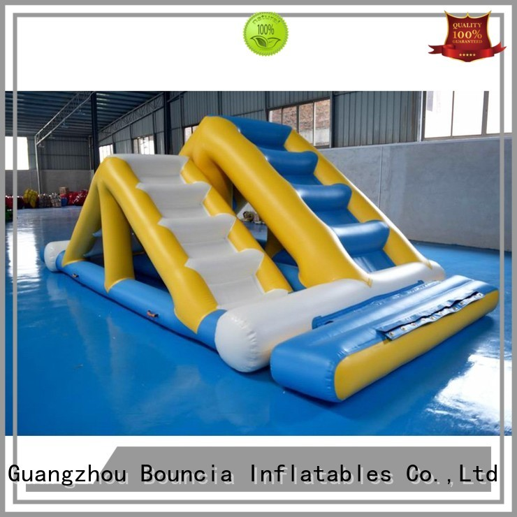 inflatable factory platform jump swimming Bouncia Brand inflatable water games