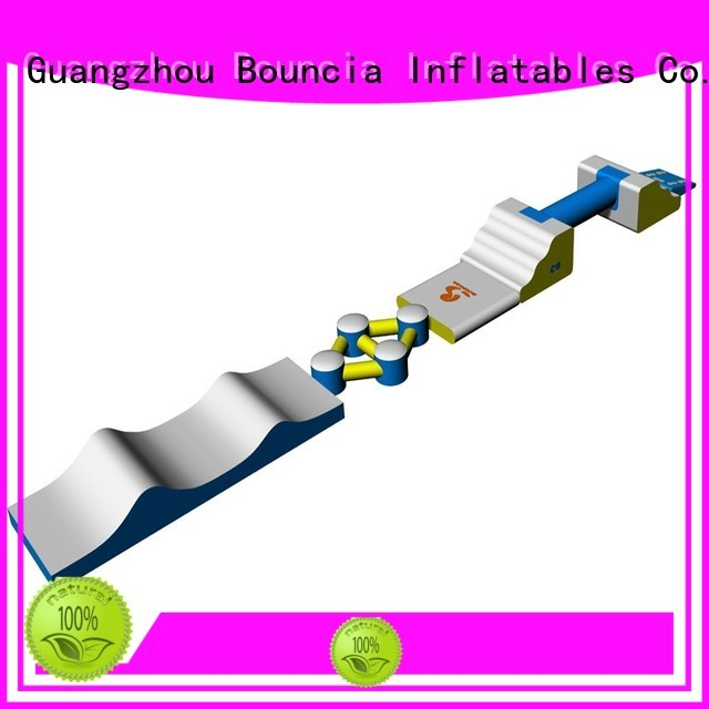 business rental course inflatable floating water park Bouncia Brand